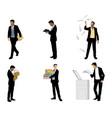 businessmen in action vector image