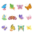 Colorful butterflies isolated vector image