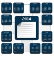 Dark Blue Calendar For New Year vector image