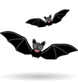 Funny vampire bat on a white background vector image