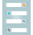 Infographic Ribbons Business Icons vector image