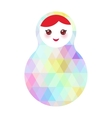 Russian dolls matryoshka with bright rhombus on vector image