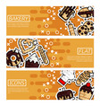 set of horizontal banners about bakery vector image