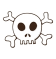 Skull and bones Jolly Roger symbol vector image