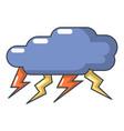 thunder cloud icon cartoon style vector image