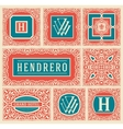 Retro cards set Layered vector image vector image