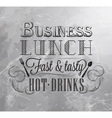 Business Lunch coal 2 vector image vector image