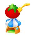 icon tomato vector image vector image