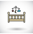Baby bed vector image