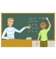 Teacher and schoolboy at blackboard eps10 vector image