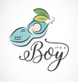 baby boy design element for greeting cards vector image
