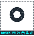 Diaphragm icon flat vector image