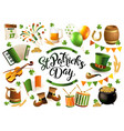 happy saint patricks day traditional collection vector image
