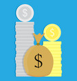 Money coin and sack vector image