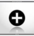 plus web flat icon vector image