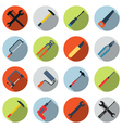Tools colorful icon set vector image