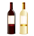 two wine bottles vector image