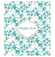 Delicate lace pattern background vector image
