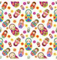 Matryoshka Seamless Pattern vector image