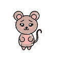 cute mouse wild animal with face expression vector image
