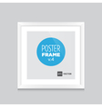 poster frame white square vector image vector image