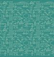 green seamless transport pattern vector image