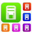 square post box set collection vector image