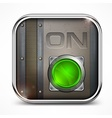 On switch button vector image vector image