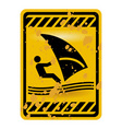 windsurf area sign vector image