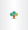 stylized abstract tree sign element vector image