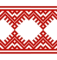 embroidered good like handmade cross-stitch ethnic vector image