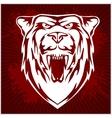 White bear head - emblem vector image vector image