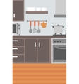 Background of kitchen with appliances vector image vector image