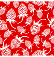 wild strawberry pattern red vector image