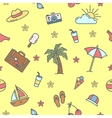 Summer Time Sea Vacation Seamless Pattern vector image vector image