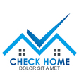 check blue house illuminated vector image
