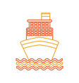 cruise boat isolated icon vector image