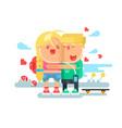 empathy boy and girl vector image