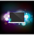 laptop with bokeh vector image