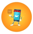 Phone character app market vector image
