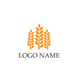 rice food meal logo and symbols template icons vector image