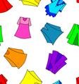 fashionable dresses for girl seamless wallpaper vector image vector image