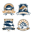 Fishing sport and fisher club icons set vector image vector image