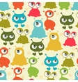 Abstract seamless pattern with cute monsters vector image