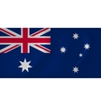 Australia waving flag vector image