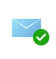 check message icon email symbol with green vector image
