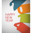 Colorful Happy New Year 2014 card vector image vector image