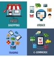 Business and shopping flat concept vector image