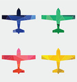airplane icon Abstract Triangle vector image