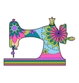 Sewing machine colorful vector image vector image